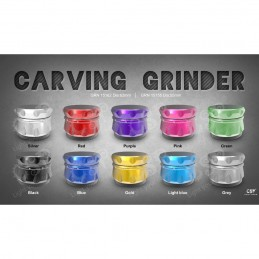 GRINDER CARVING ROJO 4 PARTES (55 MM)