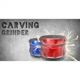 GRINDER CARVING NEGRO 4 PARTES (55 MM)